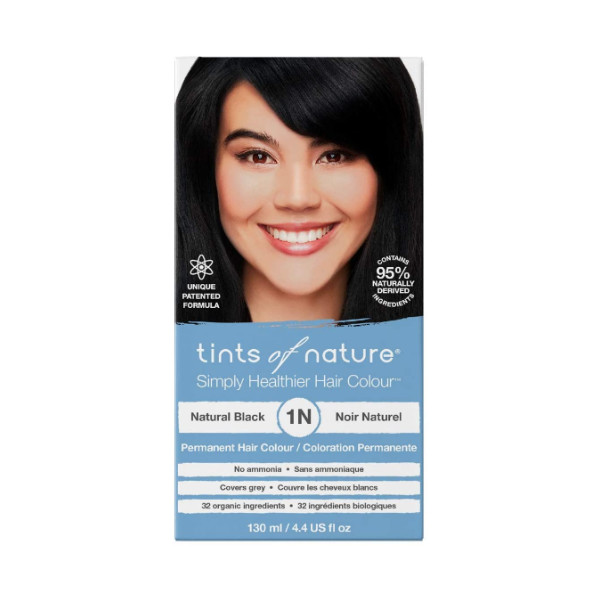 1N Natural Black Permanent Hair Dye - 130ml