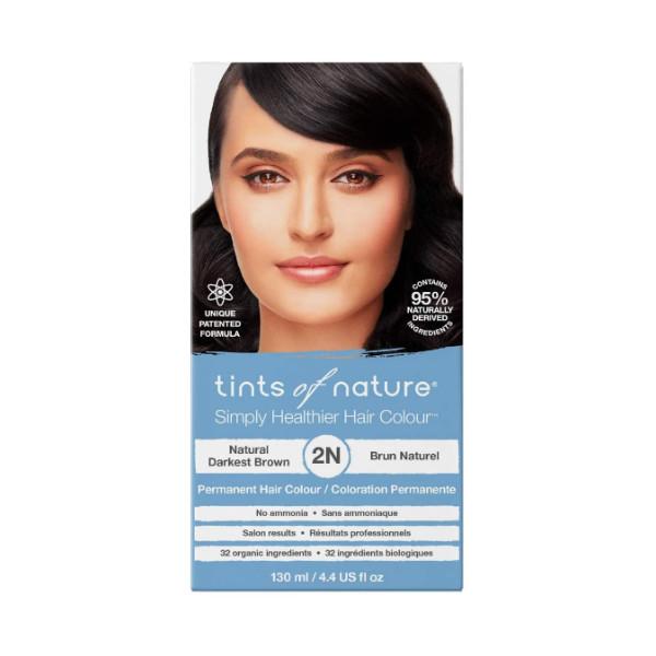 2N Natural Darkest Brown Permanent Hair Dye - 130ml