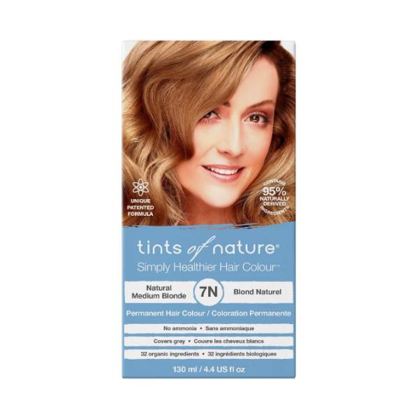 7N Natural Medium Blonde Permanent Hair Dye - 130ml
