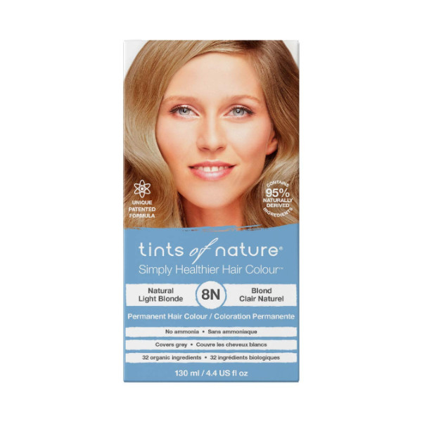 8N Natural Light Blonde Permanent Hair Dye - 130ml