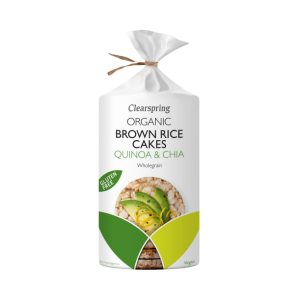 Organic Brown Rice Cakes - Quinoa & Chia - 120g