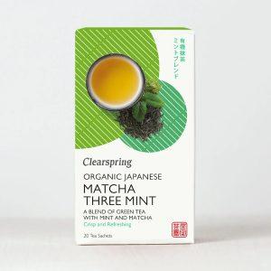 Organic Japanese Matcha Three Mint - 20 Tea Sachets