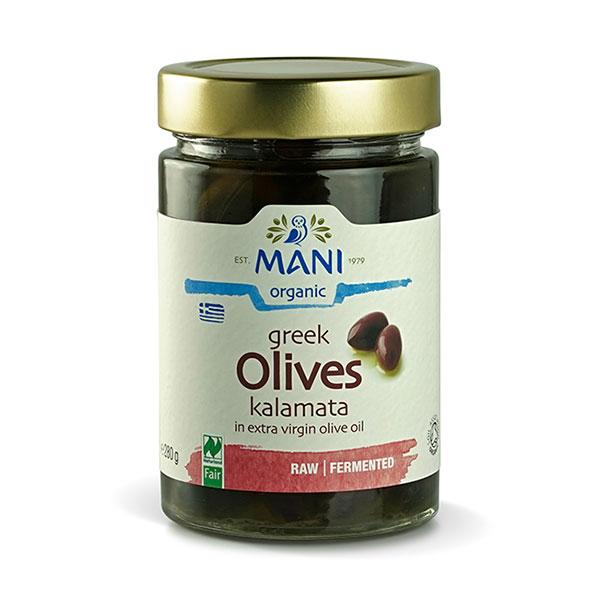 Organic Kalamata Olives in Olive Oil - 280g