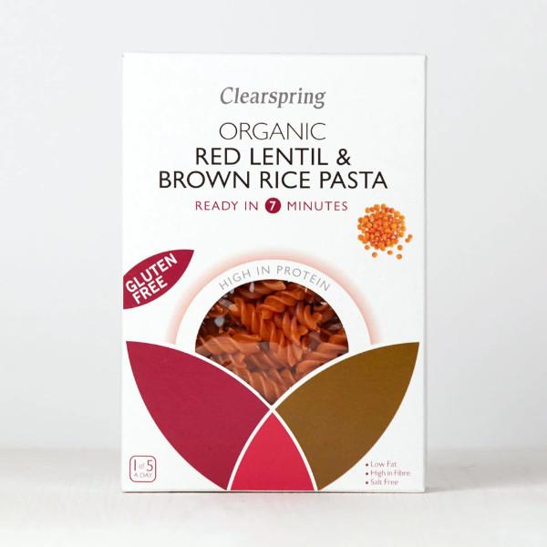 Organic Red Lentil & Brown Rice Pasta - Gluten Free