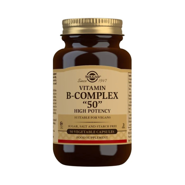 Vitamin B-Complex ''50'' High Potency Vegetable Capsules
