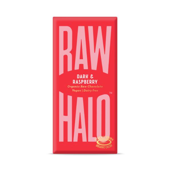 Vegan Dark & Raspberry Raw Chocolate - 70g